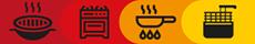 Fleischprodukte-Icons