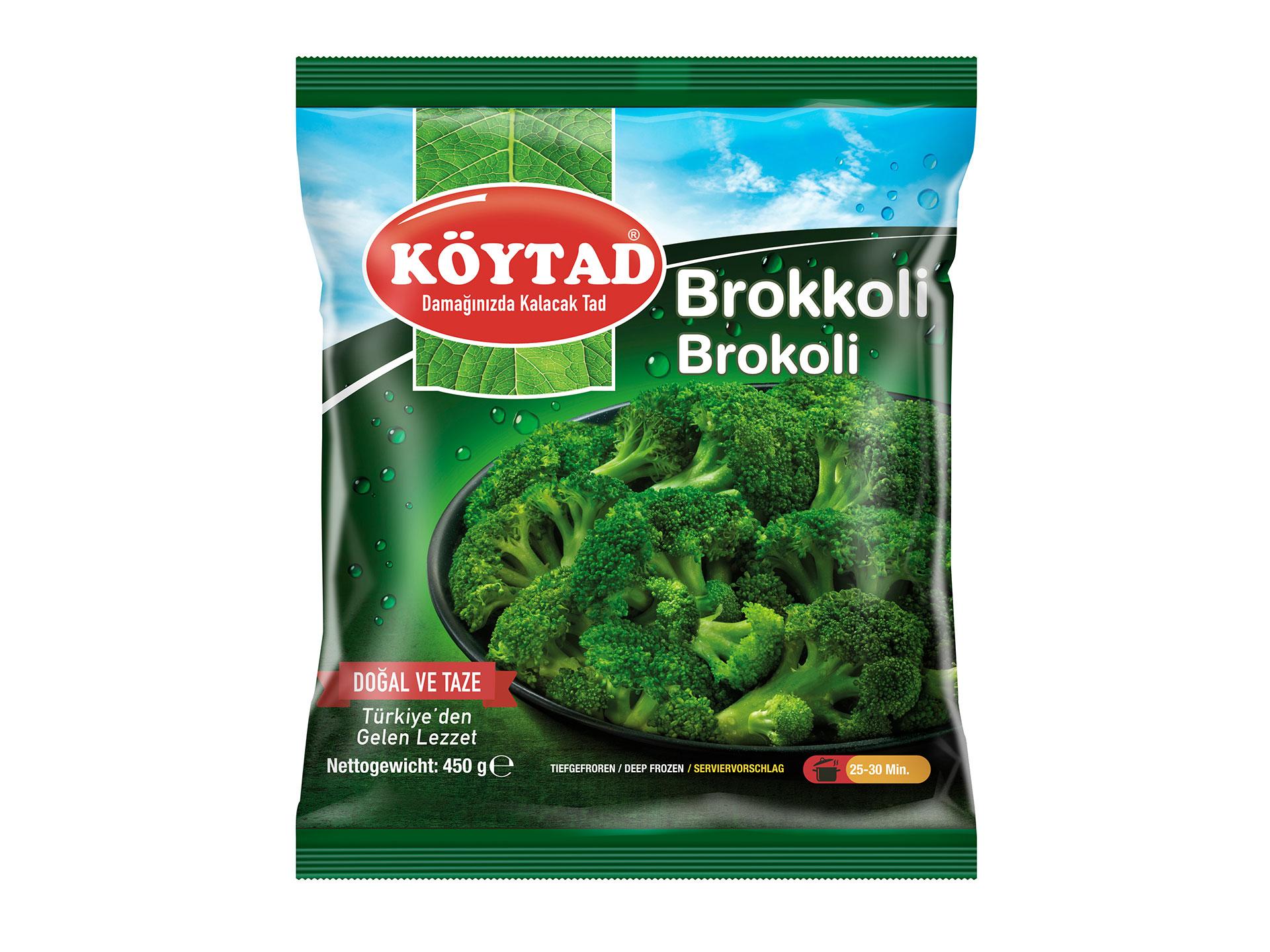 Brokkoli-Vorne