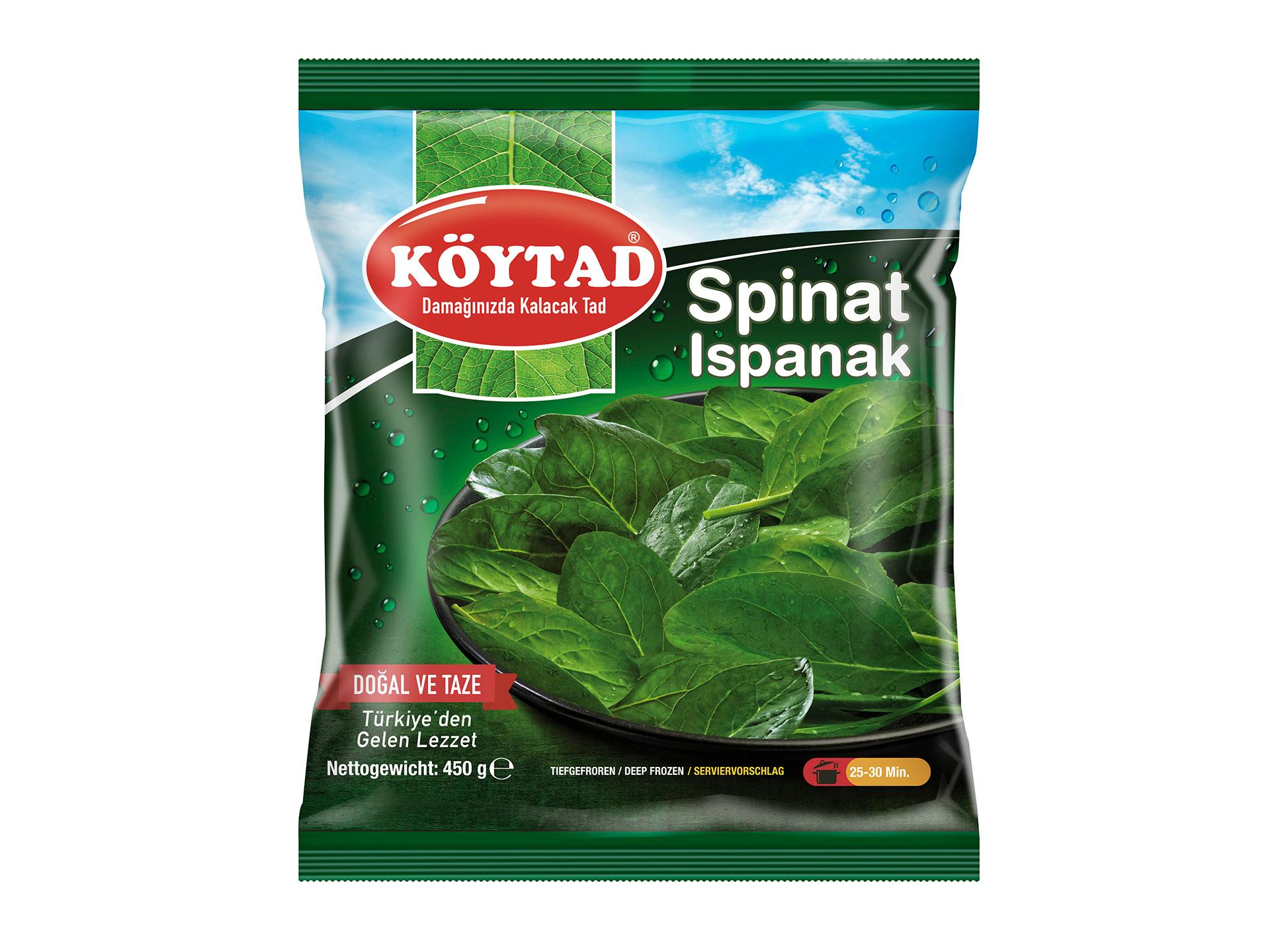 Spinat-Vorne